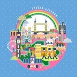 United Kingdom travel poster Royalty Free Stock Photo
