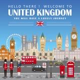 United Kingdom travel poster Royalty Free Stock Image