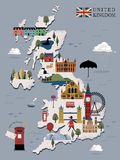 United Kingdom travel poster Stock Image