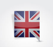 United kingdom uk message bubble illustration Stock Photo