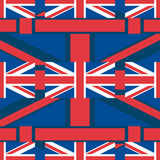 United Kingdom Union Jack horizontal seamless pattern Stock Images