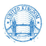 United Kingdom vector logo design template. Shabby Royalty Free Stock Photo
