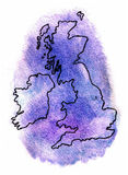 United Kingdom vector map illustration Royalty Free Stock Image