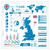 United Kingdom Vector map and infographic elements Royalty Free Stock Images