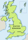 United Kingdom vector. Map - simple map graphics royalty free illustration