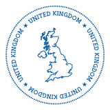 United Kingdom vector map sticker. Stock Photography
