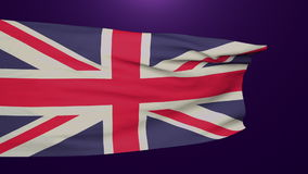 United Kingdom waving flag disappears. Flag of UK waving and disappears dissolving. Brexit concept stock video