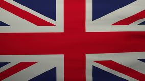 United Kingdom waving flag. stock video footage