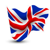 United Kingdom waving flag Stock Images