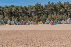 United Kingdom - Wells Next The Sea. Coloured beach houses at the beach of Wells Next The Sea, Norfolk Stock Photography