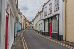 United Kingdom - Wells Next The Sea. Street view in the early evening of the historic houses in Wells Next The Sea, Norfolk Royalty Free Stock Photos