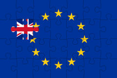 United Kingdom withdrawal from the European Union Stock Photo