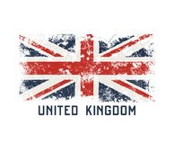 United Kingdoml t-shirt and apparel design with grunge effect. stock illustration