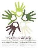 United loving hands design. Stock Photos