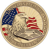 United in Memory, September 11, 2001 Coin royalty free stock photography