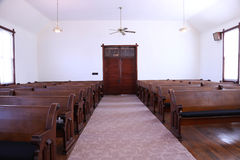 United Methodist church sanctuary Stock Photo