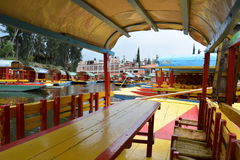 United Mexican States, Mexico. Xochimilco is one of the 16 boroughs within Mexican Federal District. The borough is center-south of the historic center of stock photo