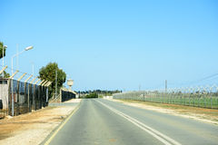 United Nation Buffer Zone between Republic of Cyprus and Norther Stock Images