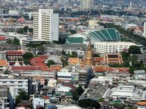 United Nation building  and Bangkok city center overview Royalty Free Stock Image