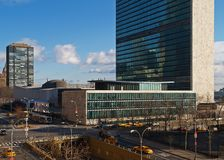 United Nation Headquarter in NYC. United Nation Headquarter in New York city Royalty Free Stock Photos
