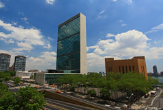The United Nation Headquarter Plaza Stock Photo