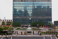 The United Nation Headquarter Plaza royalty free stock photos
