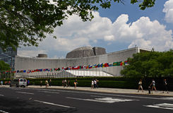The United Nation Headquarter Plaza Stock Photography