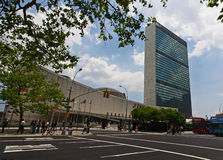 The United Nation Headquarter Plaza Stock Photos