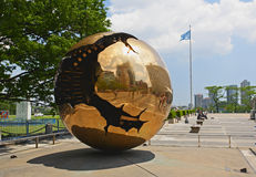 The United Nation Headquarter Plaza Royalty Free Stock Image