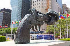 The United Nation Headquarter Plaza Stock Image