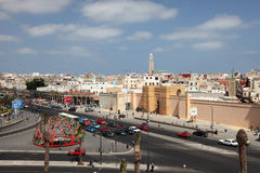 United Nation Square in Casablanca Royalty Free Stock Photos