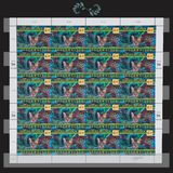 United Nation stamps. United Nation sheet of stamps 1948 - 1998 Royalty Free Stock Photo