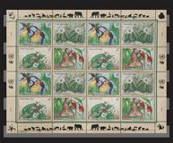 United Nation stamps. United Nation sheet of stamps Royalty Free Stock Photo