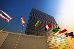 United Nations. The United Nations building at sunset Royalty Free Stock Images