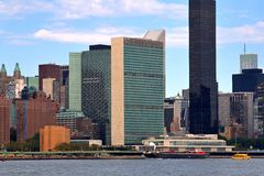 United Nations. The United Nations Building on the upper east side of Manhattan in NYC Royalty Free Stock Photo