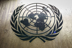 United Nations Badge in Geneva Royalty Free Stock Images