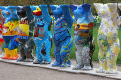United Nations Buddy Bears in Paris Royalty Free Stock Photo