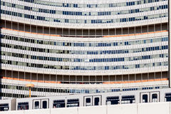 United Nations building close up Vienna. Shot in Austria, Vienna, the 22nd district at the uno Royalty Free Stock Photo