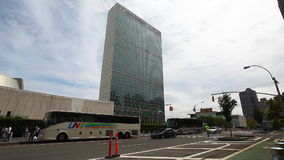 United Nations building in Manhattan, New York City. The United Nations building in Manhattan, New York City stock video footage