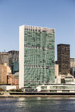 The United Nations building in Manhattan Stock Photos