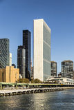 The United Nations building in Manhattan Royalty Free Stock Image