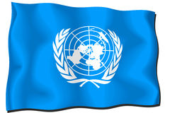 United Nations Flag. National flag of the United Nations Stock Illustration