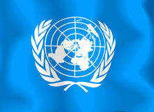 United Nations Flag. National flag of the United Nations Royalty Free Illustration