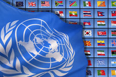 United Nations - International Flags Royalty Free Stock Image