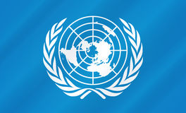 United Nations Flag. United nations blue flag illustration Royalty Free Illustration