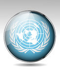 United Nations flag button Royalty Free Stock Photography