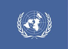 United Nations flag Stock Photos
