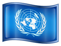 United Nations Flag Icon Stock Photo