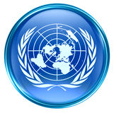 United Nations Flag Icon. Stock Photo