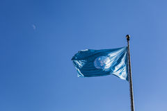 United Nations Flag. And Moon Stock Photos